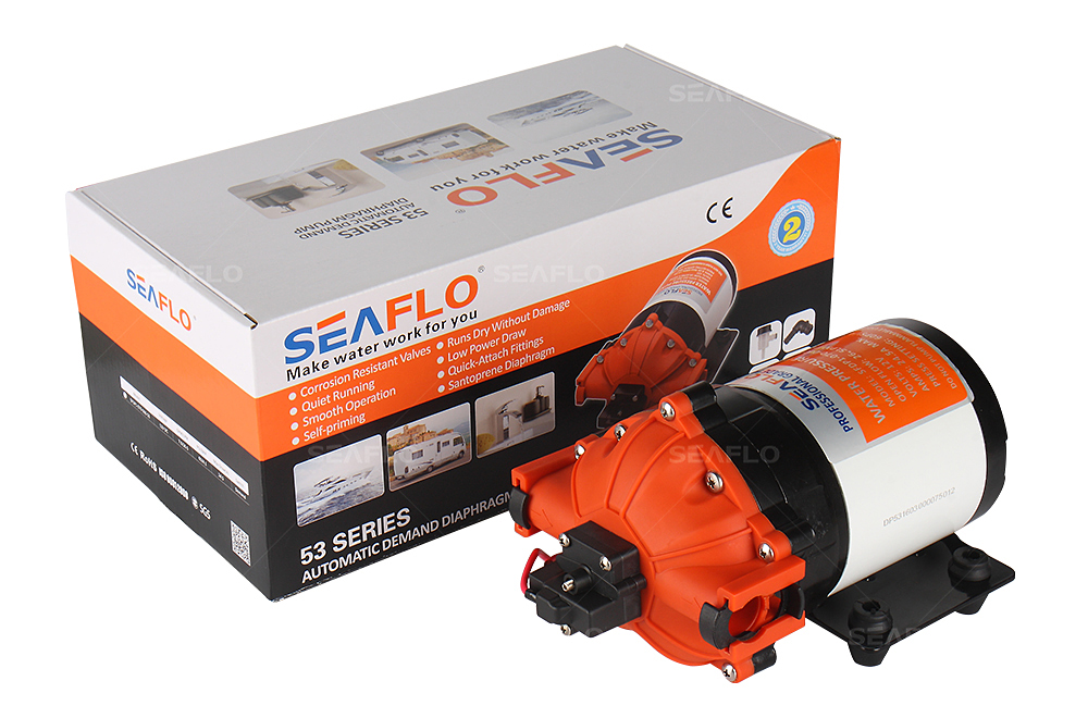 SEAFLO 53 Series DC Diaphragm Pump 12V/24V 15-26LPM 17-70PSI