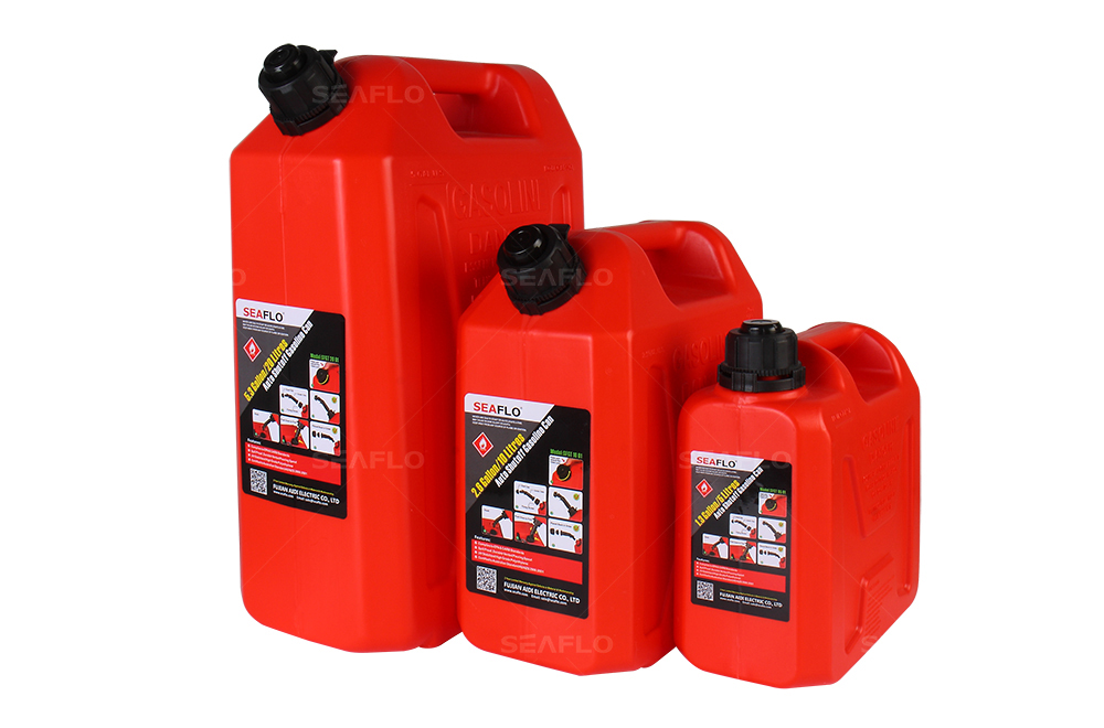seaflo plastic 20l auto shut off fuel diesel gasoline can from