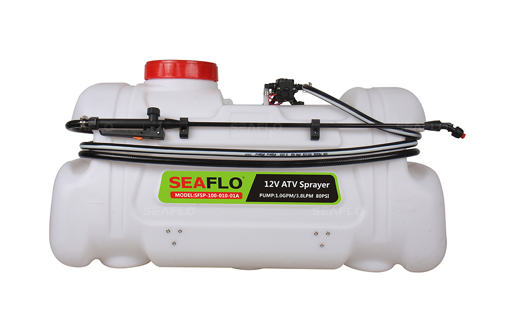 ATV Spot Sprayer 100L Capacity, 3.1LPM Pump, 80PSI / with Flow Regulator Valve