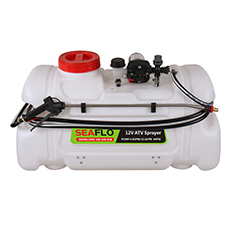 ATV Spot Sprayer 100L Capacity, 15LPM Pump, 60PSI / with Flow Regulator Valve