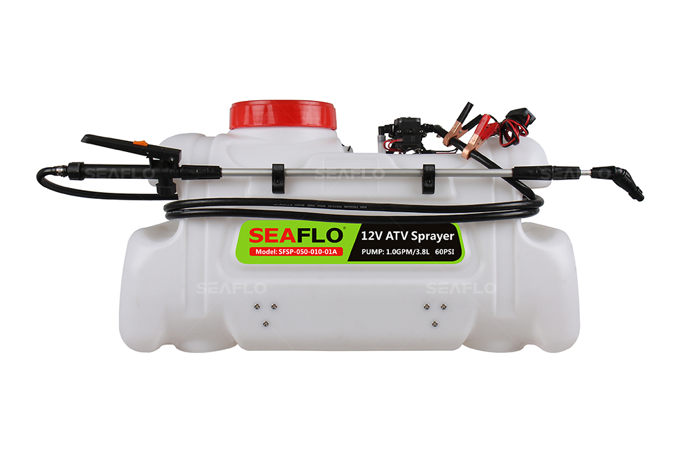 ATV Spot Sprayer 50L Capacity, 3.1LPM Pump, 80PSI / with Flow Regulator Valve