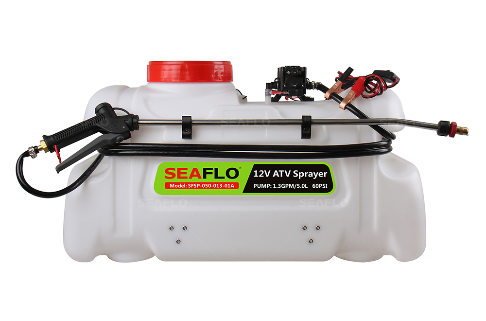 ATV Spot Sprayer 50L Capacity, 5LPM Pump, 100PSI / with Flow Regulator Valve