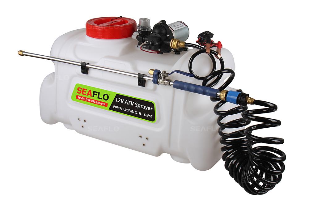 ATV Chemical Sprayers | SEAFLO 3 0 GPM 12 Volt 50Litres