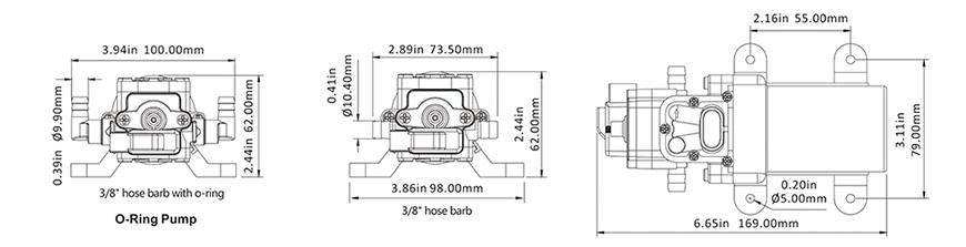 Diaphragm Water Pump - 1 0 GPM 40 psi SEAFLO Pump