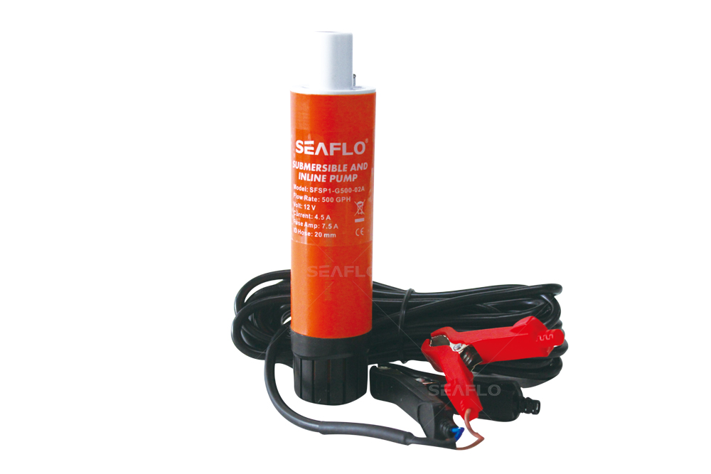 SEAFLO 12V 500GPH Submersible//Inline Water//Diesel Transfer Pump for Boat