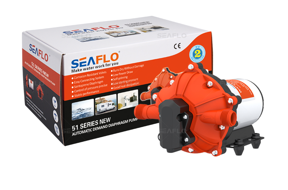 SEAFLO 51 NEW Series DC Diaphragm Pump 12V/24V 3.0-20.0LPM 17-70PSI
