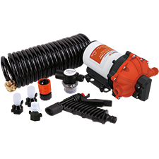 51 Series Washdown Pump Kit With 7.5m Coiled Hose