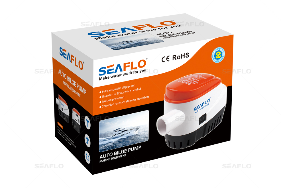 SEAFLO 24V Automatic Submersible Boat Bilge Water Pump 750GPH Auto with Float Switch