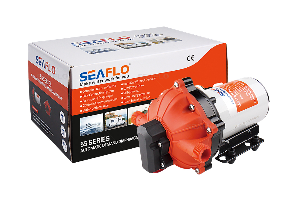 SEAFLO 55 Series Automatic Demand RV Water Pump 12V/24V 3.0-20.0LPM 17-60PSI