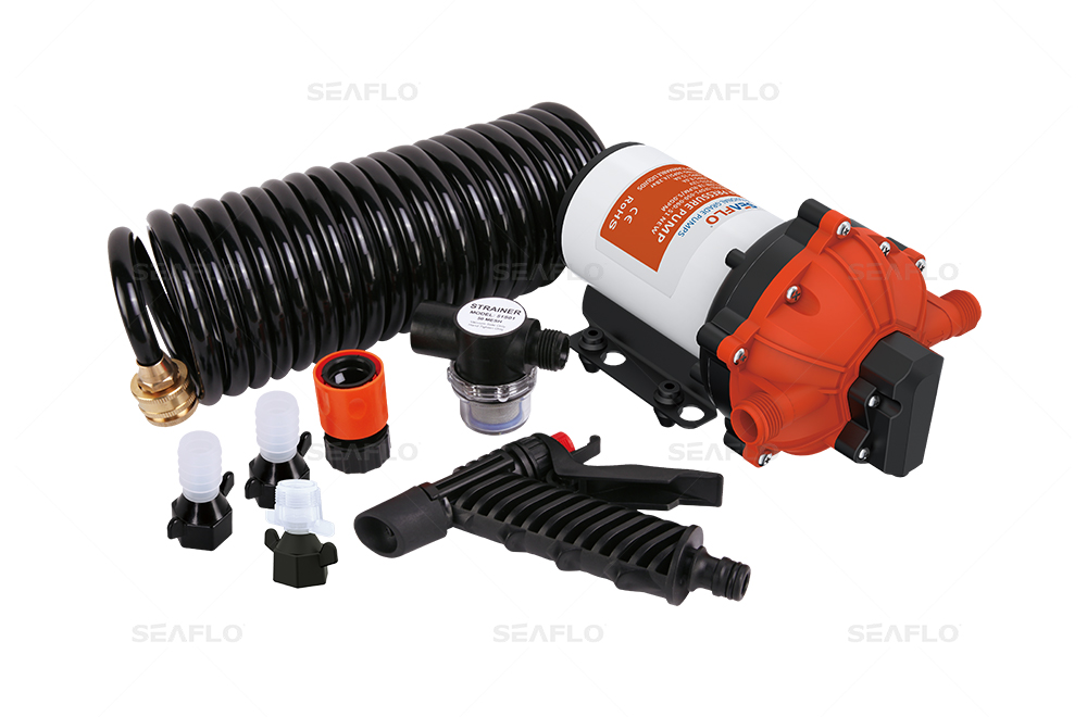 51 Series Washdown Pump Kit With 10m Coiled Hose