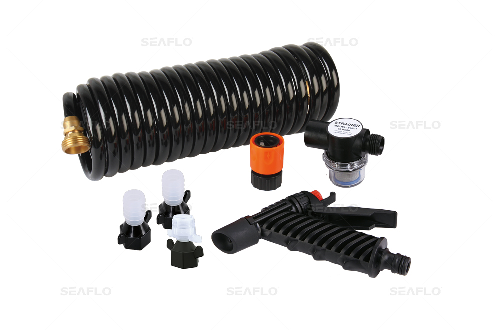 42 Series Washdown Pump Kit With 10m Coiled Hose